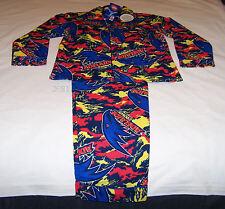 Adelaide Crows Logo AFL Boys Camo Printed Flannel Pyjama Set Size 16 New
