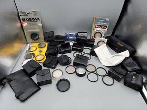 Lot of 80+ Vintage 52mm Thread Camera Lens Filters Hoya Close-Up Sky UV Pola