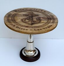Nautical ship anchor style wooden table rounder home & office decorative item