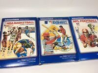 Intellivision Sports Lot Of 3 Games NBA MLB NFL All Complete Baseball Football