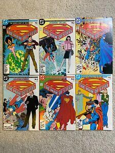 Superman The Man Of Steel #1-6 Mini Series Full Run Byrne 1986 Copper Age VF/NM