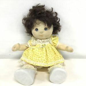 Mattel My Child Doll with Short Brown Hair & Yellow Outfit #656