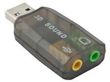 USB 2.0 Soundkarte 3D Audio Adapter 5.1 Virtual Surround Soundeffekt PC Neu #128