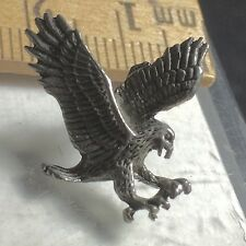 Eagle In Flight Assault Collectible Vintage Pewter Pins Appox 1 Inch Square