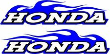 "Honda logo flame 2 sticker decal set blue  11"" x 48"" each"