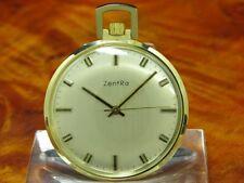 ZentRa 14kt 585 Gold Open Face Taschenuhr / Anhängeuhr / Kaliber ETA 2391