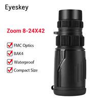 8-24x42 Zoom Optics Monocular HD Scope for Bird Watching Hunting Watching Sports