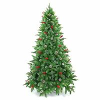 Artificial Christmas Tree Pre Decorated With Berries & Pine Cone Xmas Tree 5ft