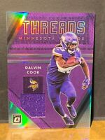 DALVIN COOK THREADS SILVER PRIZM SSP PATCH 2020 OPTIC VIKINGS *PACK FRESH*