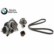 For BMW F01 F07 F06 F10 Water Pump & Gasket w/ Belt & Thermostat Genuine
