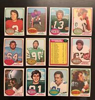 Lot of 12 1976 Topps Football Cards w/ Washington Team CL+ - Nice Condition