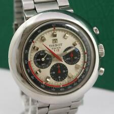 VINTAGE TISSOT T12 STAINLES STEEL MANUAL WIND CHRONOGRAPH MEN'S WATCH