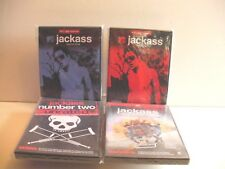 DVDS JACKASS TV SERIES AND MOVIES (4 DVDS NM CONDITION) FREE SHIP / GIFT