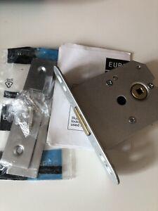 76 mm Dead Lock Satin Chrome Plated Eurospec FLD8030SCP