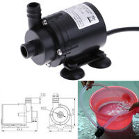 DC12V 280L/H Electric Mini Water Pump Brushless Motor Submersible for AquarE Jy