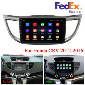 10.1'' Android 9.1 2+32GB Car Stereo Radio GPS Navi Player For Honda CRV 2012-16