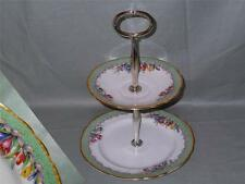 Aynsley Crocus Pattern 2-Tier Biscuit Plate Small Cakestand