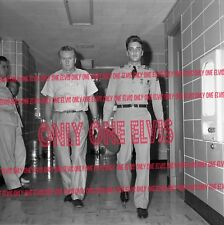 ELVIS PRESLEY in the Army 1958 8x10 Photo LEAVING HOSPITAL WITH VERNON Memphis
