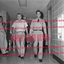 ELVIS PRESLEY in the Army 1958 4x4 Photo LEAVING HOSPITAL WITH VERNON Memphis