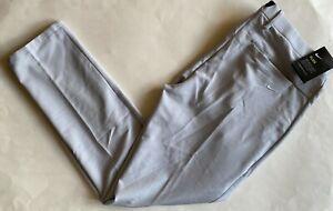 $90 NWT Mens Nike Flex Vapor Slim Fit Flat Front Golf Pants Platinum Gray BV0273