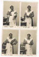 SET of 4 RPPC Post Cards Black Americana Black Maid Making Grocery List FRENCH