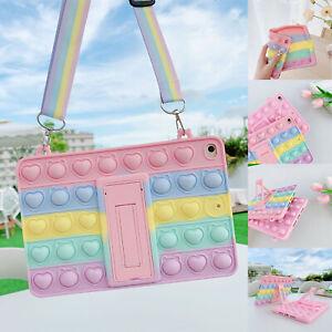 Pop Fidget Toys Bubble Kids Strap Case For iPad 9.7 6th Gen 2018 54321 Air Mini