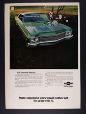 1970 Chevrolet Caprice Sedan green car photo vintage print Ad