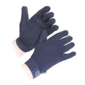 Adults Shires Newbury Horse Riding Gloves  - Navy Blue - Medium - Pimple Grip