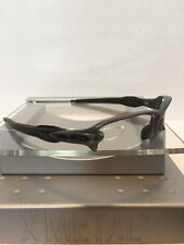 ++Oakley Flak Jacket 2.0 Clear Gray Frame Black Icons Fast Free S/H++
