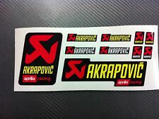 Kit 10 Adesivi Stickers AKRAPOVIC Aprilia Racing resistente al calore