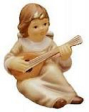 SALE-Goebel Angel W/Mandolin Figurine-Magical Christmas Series - Champagne Color