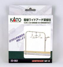 23-062 KATO Unitrack 10 poteaux catenaires doubles voies larges  N 1/160