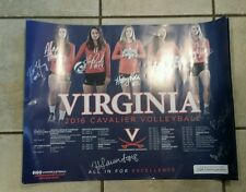 2016 UVA Virginia Cavaliers Team Autographed Signed Volleyball Schedule Poster