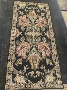 Silk  Floral Damask Motive  Jacquard Woven Tapestry Wall Hanging