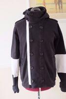 Mens ADIDAS ORIGINALS | Black Full button Hoodie Jacket | Size UK Medium