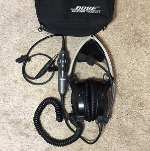 Aviation Bose X AHX-32-02 Single Plug Pilots Headset