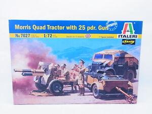 69433 Italeri 7027 Morris Quad Trattore Con 25 Pdr. Gun Kit 1:72 Nuovo IN Conf