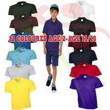 Uneek Kids Polo Shirt Childrens School Top PE Tee T Boys Girls Classic Poloshirt