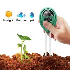 3-en-1  Probador de  pH  suelo Equipo Medidor  de humedad  Luz y PH acidez