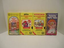 Lot of 4 VHS Golden Book Videos Scarry, Nursery Songs, Pet Monster & Fairy
