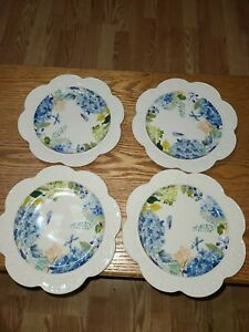 Princess House Marbella Blossom Lunch Plates (4) 3257 Brand New!!!!