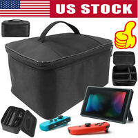 For Nintendo Switch Travel Cover Carry Accessory Bag Carrying Case Large Storage