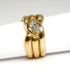 Natürliche Ringe aus Gelbgold mit Diamanten Ø) von (17,5 mm