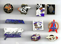 Vintage STAR TREK Movies Cloisonne Pin Set of 10 Pins-Out of Production (Set A)