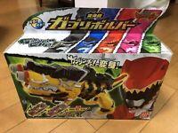 Used POWER RANGERS Kyoryuger Gabu Revolver Gun Morpher 3 Dino Charge Set Bandai