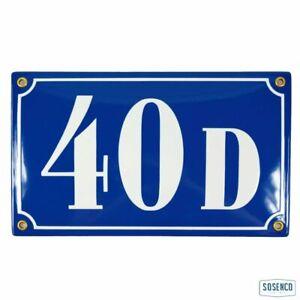 Porcelain address plaque 5.9x9.8″ customisable handmade enamel house number sign