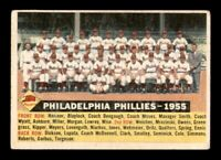 1956 Topps Set Break #72 Philadelphia Phillies Team Card VG Date *OBGcards*