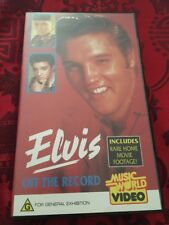 ELVIS PRESLEY OFF THE RECORD -  VHS VIDEO TAPE