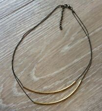 Black & Gold Hipster Necklace