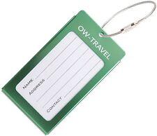 ✅ titular de la tarjeta de negocios de etiqueta de equipaje para Maletas Mochilas-Viajes Verde De Regalo